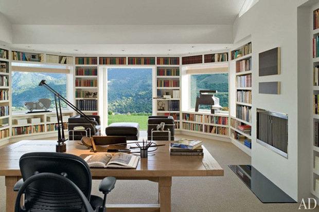 Фотография: Офис в стиле Современный, Системы хранения, Библиотека, Домашняя библиотека – фото на InMyRoom.ru
