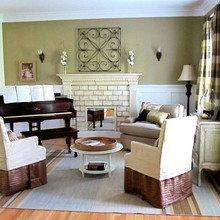 Фотография: Гостиная в стиле Кантри, Декор интерьера, Декор дома, Камин – фото на InMyRoom.ru