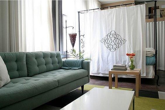Фотография: Гостиная в стиле Скандинавский, Декор интерьера, Декор дома, Ширма, Перегородки – фото на InMyRoom.ru