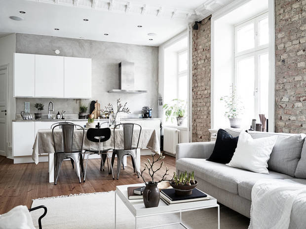 Фотография: Кухня и столовая в стиле Скандинавский, Перепланировка, Gorod, Алексей Паршин – фото на INMYROOM
