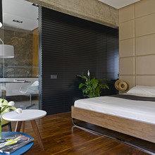 Фотография: Спальня в стиле Эко, Современный, Малогабаритная квартира, Квартира – фото на InMyRoom.ru