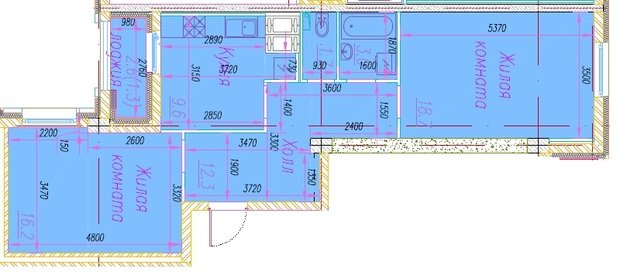Прошу совета как перепланировать 2-комнатную квартиру