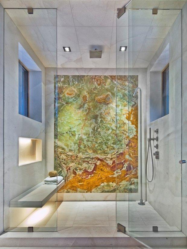 Фотография: Ванная в стиле Лофт, Минимализм, Современный, Декор интерьера, Дизайн интерьера, Декор, Зеленый, Ванна, Эко – фото на InMyRoom.ru
