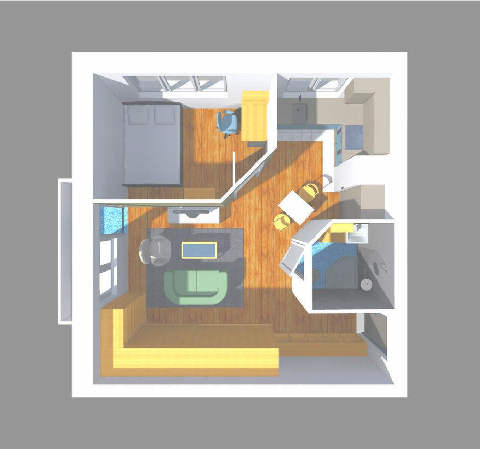 Фотография: Мебель и свет в стиле Прованс и Кантри, Малогабаритная квартира, Квартира, Планировки, Перепланировка, Ремонт на практике, Ксения Чупина, перепланировка недели, идеи перепланировки однушки, перепланировка однокомнатной квартиры, как обустроить однушку, как сделать из однушки студию, перепланировка однушки в санкт-петербурге, перепланировка в хрущевке, перепланировка в брежневке, Панельный дом, 1 комната, до 40 метров, I-507 – фото на InMyRoom.ru
