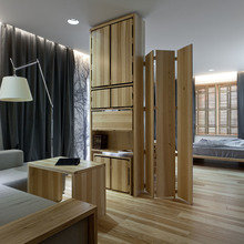Фотография: Гостиная в стиле Современный, Спальня, Интерьер комнат, Проект недели, Эко – фото на InMyRoom.ru