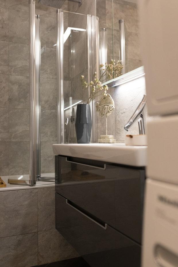 Фотография: Ванная в стиле Современный, Квартира, Проект недели, Санкт-Петербург, 2 комнаты, 40-60 метров, Олеся Соловьева, Александра Чхетиани – фото на INMYROOM