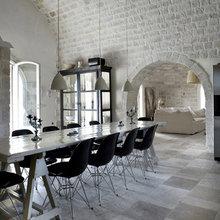 Фотография: Кухня и столовая в стиле Скандинавский, Дом, Италия, Дома и квартиры, Балки – фото на InMyRoom.ru