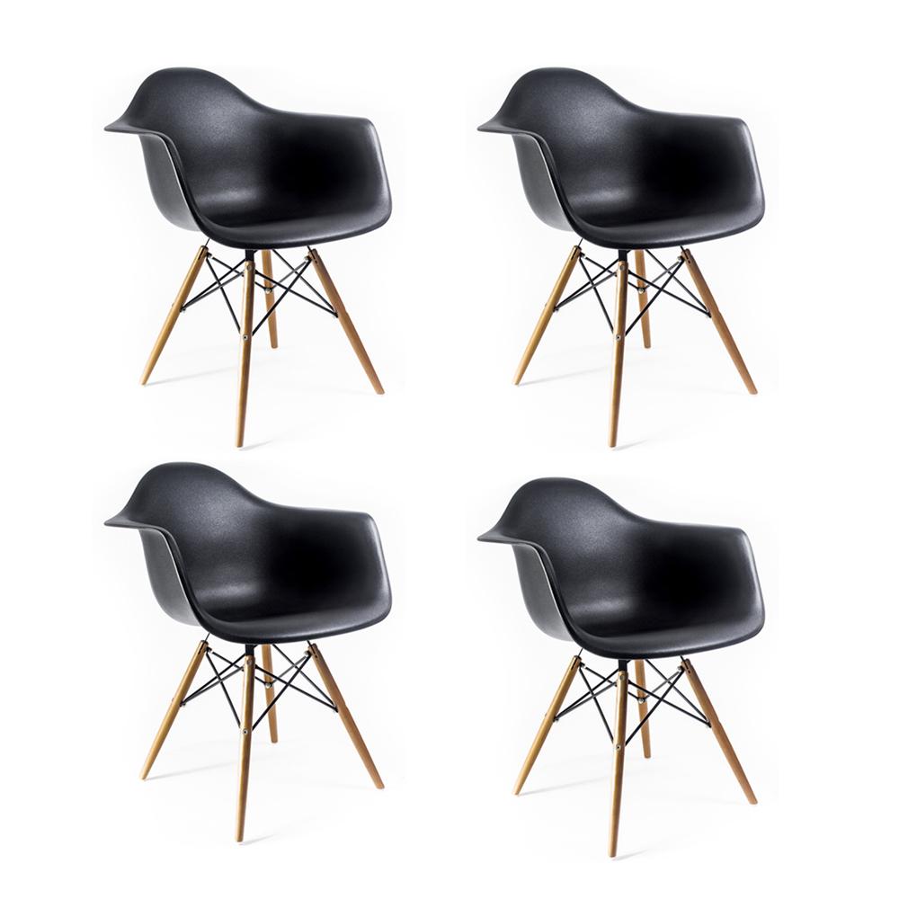 Купить Набор из четырех стульев на деревянных ножках, inmyroom, Китай
