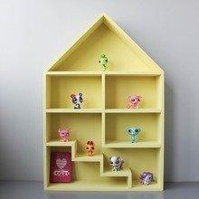 """Кукольный домик """"Milan"""" c лестницей желтый"""