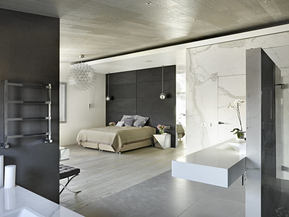 Фотография: Спальня в стиле Лофт, Дом, Дома и квартиры, Минимализм, Проект недели, Эко – фото на InMyRoom.ru