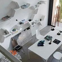 Фотография: Офис в стиле Минимализм, Декор интерьера, Дом, Декор дома, Полки – фото на InMyRoom.ru