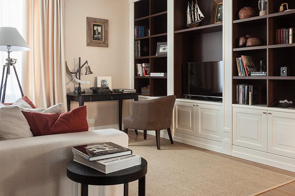 Фотография: Гостиная в стиле Эклектика, Классический, Квартира, Дома и квартиры, IKEA, Проект недели, Дина Салахова – фото на InMyRoom.ru