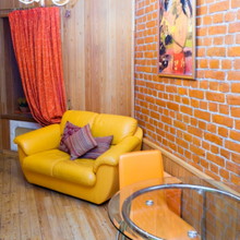 Фотография: Гостиная в стиле Лофт, DIY, Малогабаритная квартира, Квартира, Интерьер комнат – фото на InMyRoom.ru