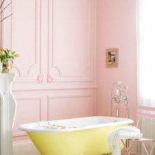 Фотография: Ванная в стиле , Декор интерьера, Дизайн интерьера, Цвет в интерьере, Краска – фото на InMyRoom.ru
