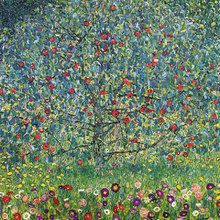 Картина (репродукция, постер): Bluhende Baume und Wiesen - Густав Климт