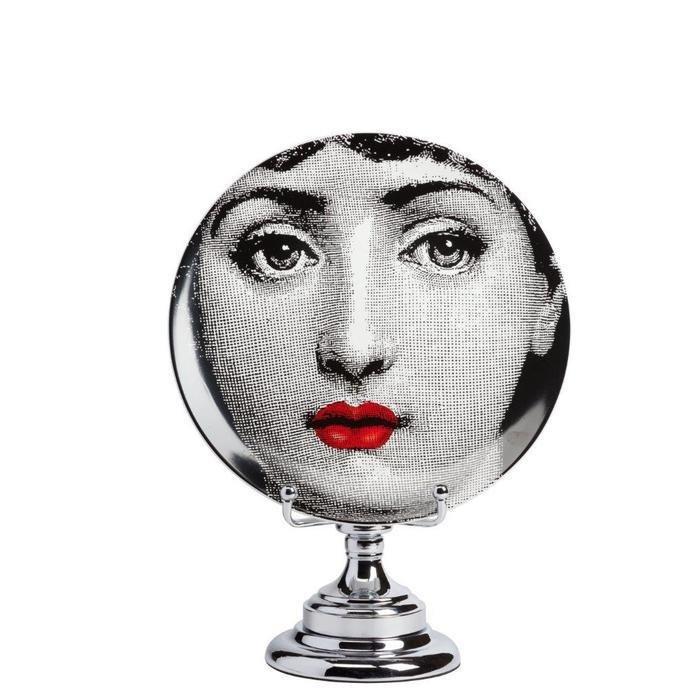 Декоративная тарелка на подставке Пьеро Форназетти Dolore Rouge