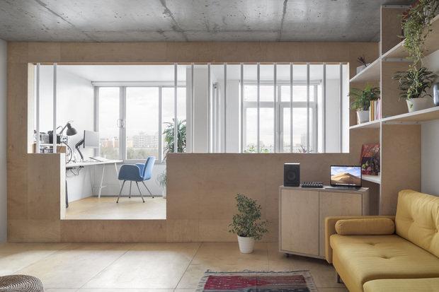 Фотография: Гостиная в стиле Минимализм, Квартира, Студия, Проект недели, Москва, 40-60 метров, Схема – фото на INMYROOM
