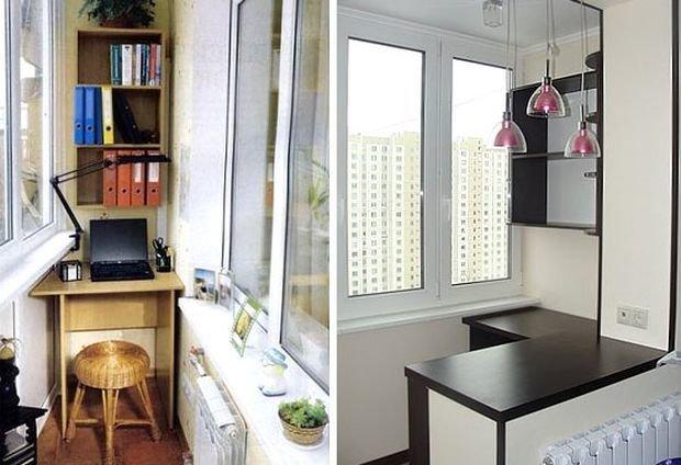 Дизайн балкона фото и видео. обустройство кабинета на балкон.