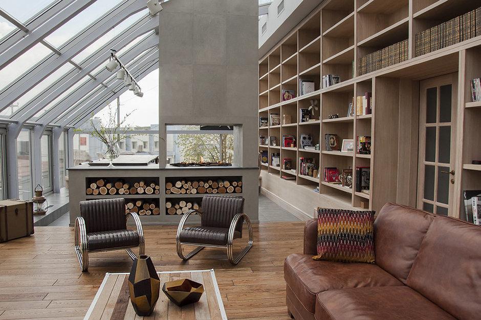Фотография: Гостиная в стиле Лофт, Квартира, Дома и квартиры, Проект недели – фото на InMyRoom.ru