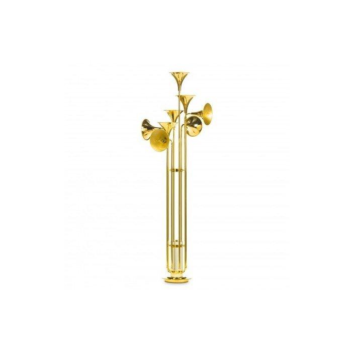 Дизайнерский Торшер цвета золота