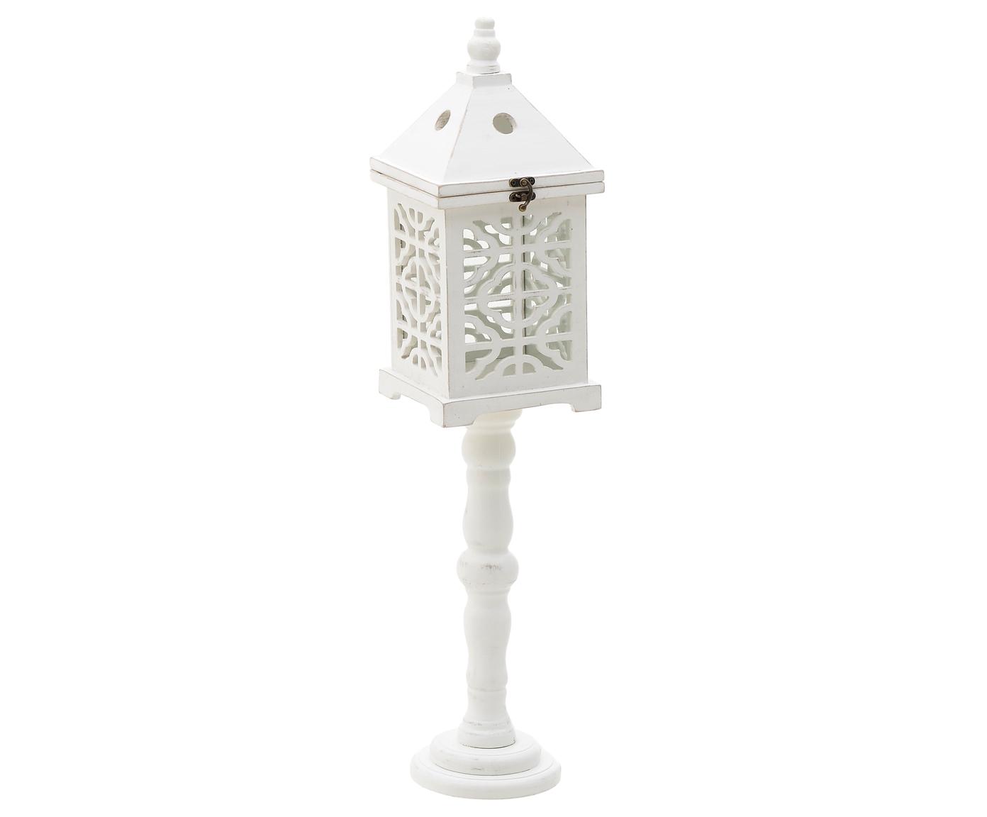 Купить Фонарь из дерева белого цвета, inmyroom, Греция