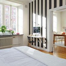 Фотография: Спальня в стиле Скандинавский, Кабинет, Интерьер комнат, Советы – фото на InMyRoom.ru