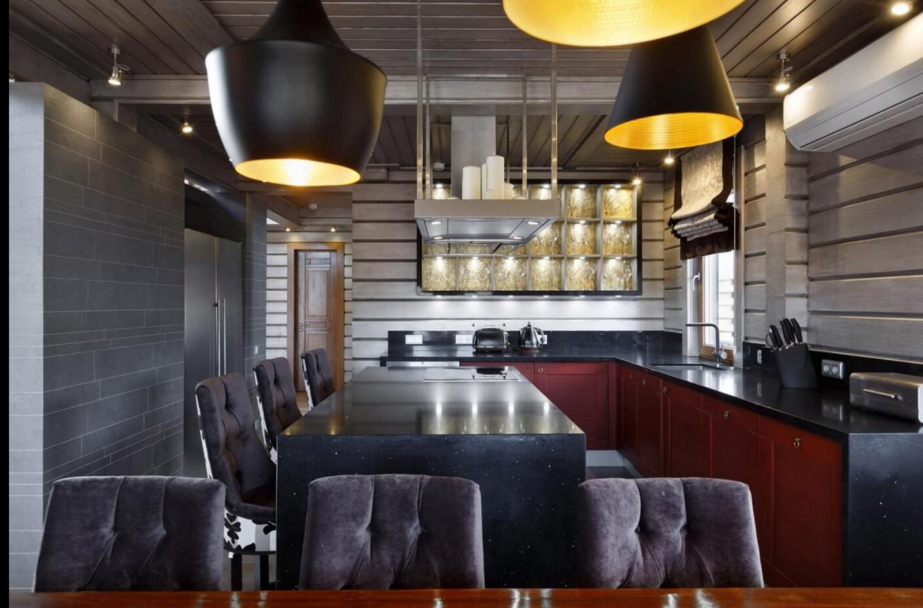 Желтая кухня в современном стиле