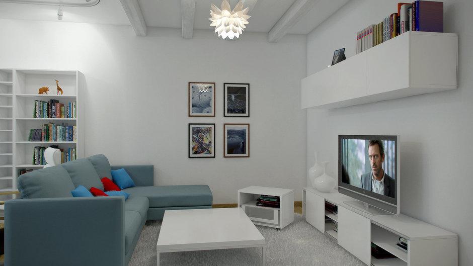 Фотография: Гостиная в стиле Современный, Декор интерьера, Квартира, Цвет в интерьере, Дома и квартиры, Проект недели, Стены – фото на InMyRoom.ru