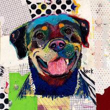 Картина (репродукция, постер): Dog №3 - Майкл Кек