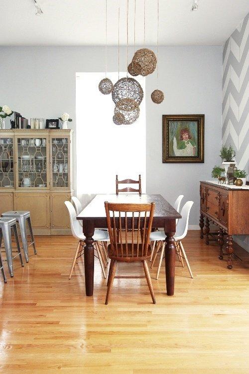 Фотография: Кухня и столовая в стиле , Индустрия, Новости, Обои, Геометрия в интерьере – фото на InMyRoom.ru
