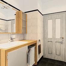 Фотография: Ванная в стиле Современный, Лофт, Квартира, Дома и квартиры, Проект недели, Москва – фото на InMyRoom.ru