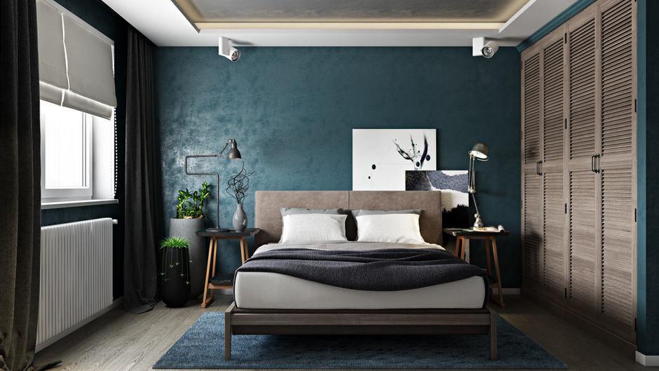 Фотография: Спальня в стиле Лофт, Квартира, Проект недели, Санкт-Петербург, Эко, Монолитный дом, 3 комнаты, 60-90 метров, FISHEYE ARCHITECTURE & DESIGN – фото на InMyRoom.ru