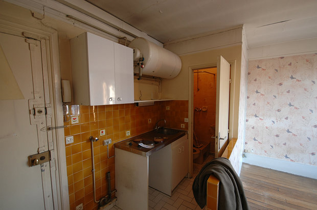Фотография: Прочее в стиле , Малогабаритная квартира, Квартира, Цвет в интерьере, Белый, Проект недели, Переделка – фото на InMyRoom.ru