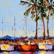 Картина (репродукция, постер): Pier traffic - Лесли Саета