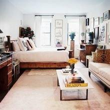 Фотография: Спальня в стиле Скандинавский, Гостиная, Интерьер комнат – фото на InMyRoom.ru