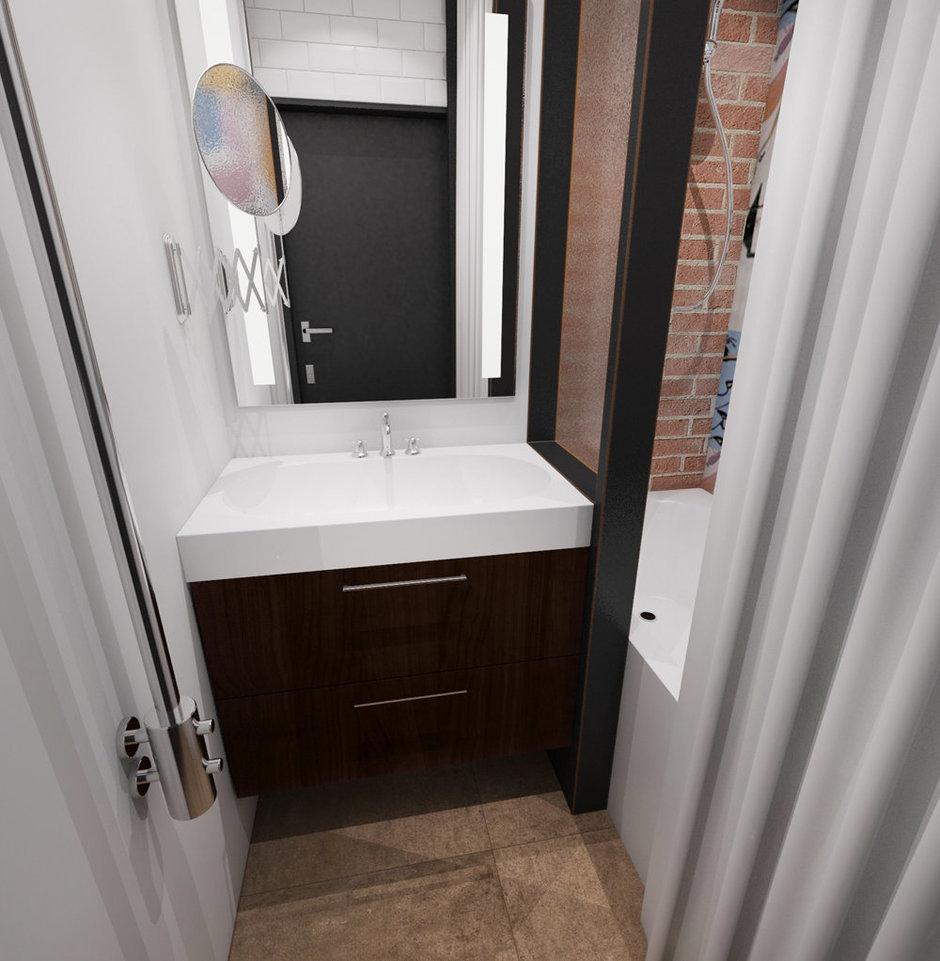 Фотография: Ванная в стиле Лофт, Эклектика, Квартира, Проект недели, ИКЕА, Circle Line – фото на InMyRoom.ru