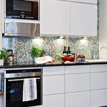 Фотография: Кухня и столовая в стиле Современный, Скандинавский, Малогабаритная квартира, Квартира, Швеция, Дома и квартиры – фото на InMyRoom.ru