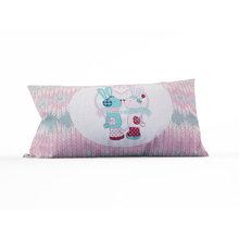 Декоративные подушки: Влюбленные зайки