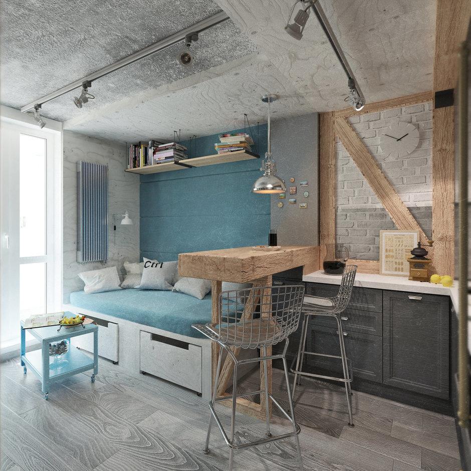 Фотография: Гостиная в стиле Лофт, Квартира, Дома и квартиры, IKEA, Проект недели, Cosmorelax – фото на InMyRoom.ru