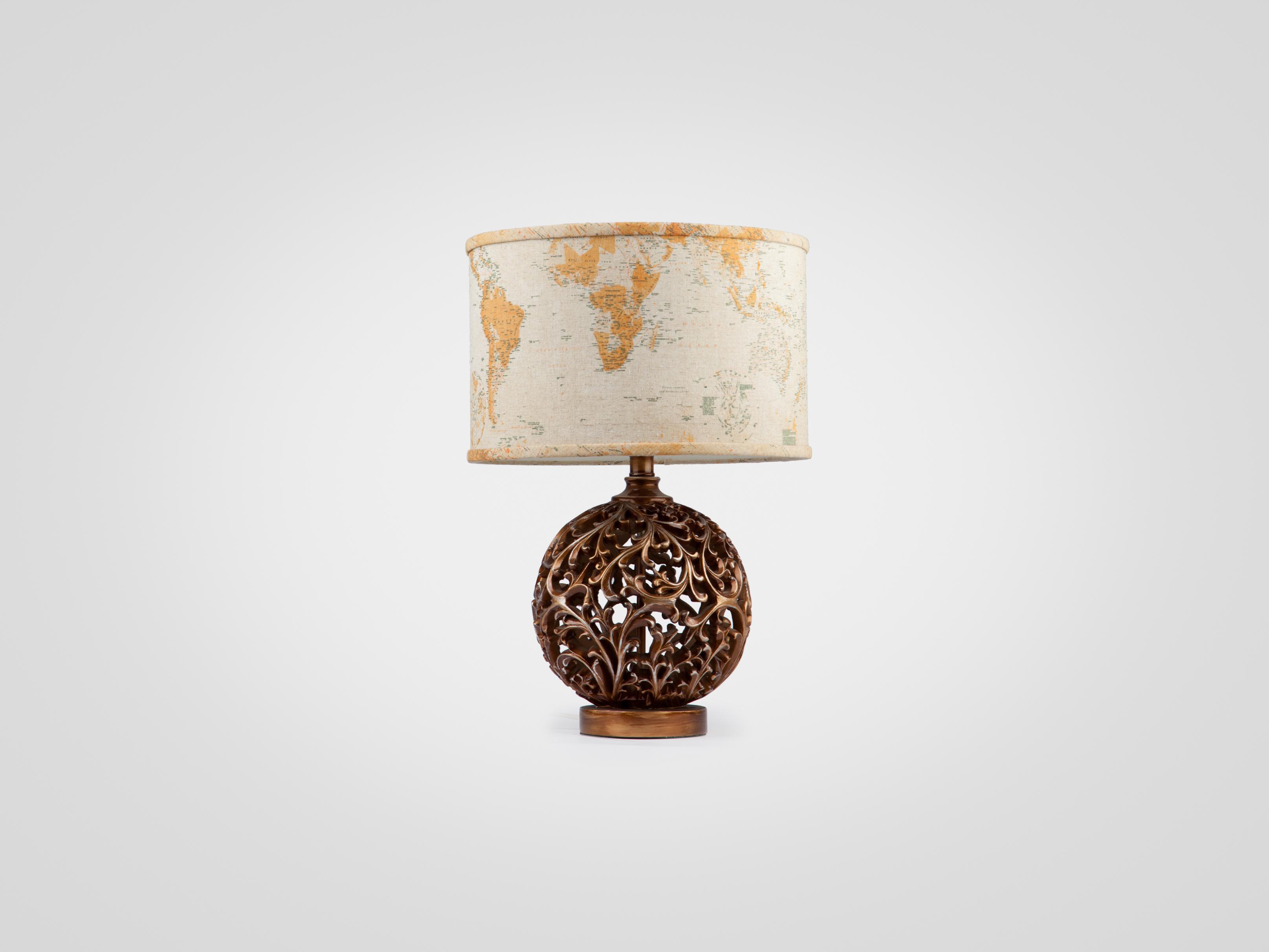 Купить Лампа настольная на декоративной ножке медного цвета, inmyroom, Китай