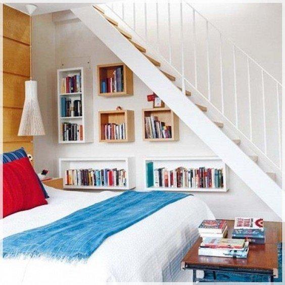 Фотография: Спальня в стиле Скандинавский, Гардеробная, Декор интерьера, Интерьер комнат, Системы хранения, Кровать, Гардероб – фото на INMYROOM