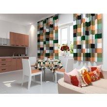 Кухонная скатерть: Цветные клетки