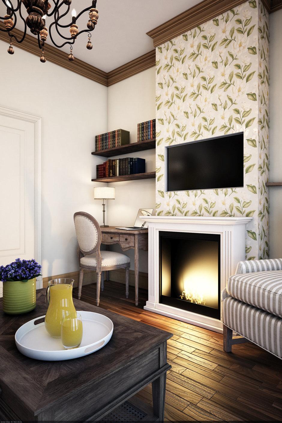 Фотография: Гостиная в стиле Прованс и Кантри, Классический, Квартира, Проект недели – фото на InMyRoom.ru
