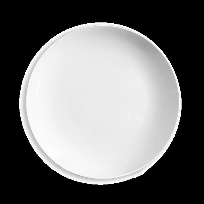 Тарелка без бортов белого цвета
