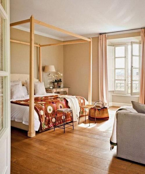 Фотография:  в стиле , Советы, как совместить спальню с гостиной, как обустроить в одной комнате две зоны, зонирование комнаты – фото на InMyRoom.ru