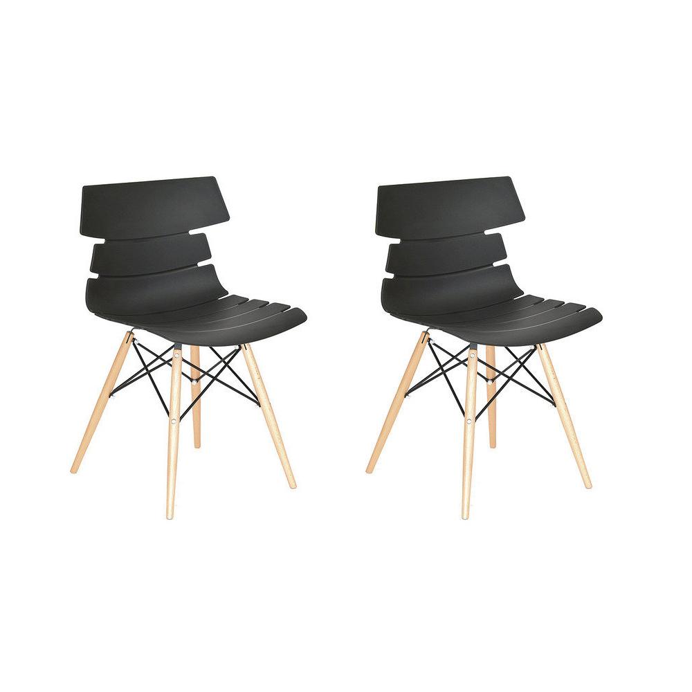 Купить Набор из двух стульев на деревянных ножках черного цвета, inmyroom, Китай