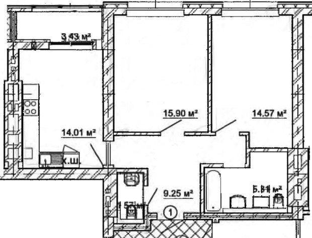 Помогите!!! Перепланировать (оптимизировать) квартиру 63 кв.м.!!!