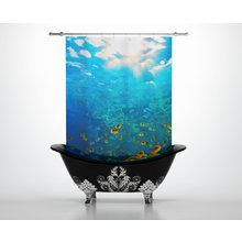 Штора для ванной: Морской риф