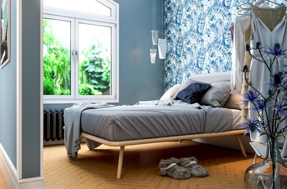 Фотография: Спальня в стиле Скандинавский, Малогабаритная квартира, Квартира, Проект недели, Марина Саркисян, Хельсинки, 2 комнаты, до 40 метров – фото на InMyRoom.ru