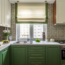 Фотография: Кухня и столовая в стиле Кантри, Малогабаритная квартира, Квартира, Наталья Сытенкова – фото на InMyRoom.ru